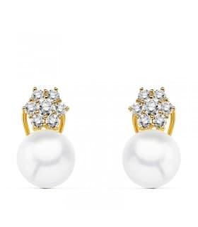 Pendientes de novia Duquesa de Vendôme Oro 18k Perla Australiana