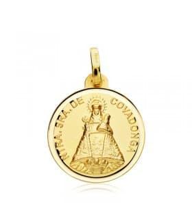 Virgen Nuestra Señora de Covadonga Patrona Asturias Bisel Oro 18 kilates 18mm
