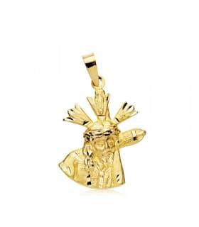 Cristo del Gran Poder Silueta Oro 18K 21mm Semana Santa Medalla Comunión
