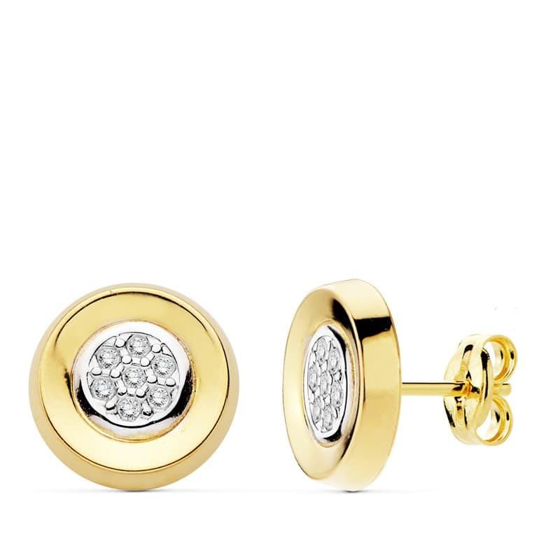 829d47d094d0 Pendientes mujer oro bicolor 18 kilates Mayte Círculo