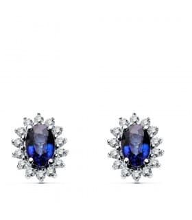 Pendientes zafiro y diamantes a juego anillo kate middelton
