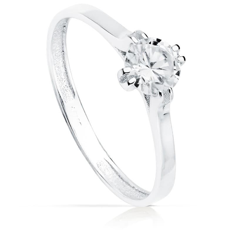 5732581c8306 Solitario clásico de Mujer Oro blanco Riga 18K anillo de compromiso