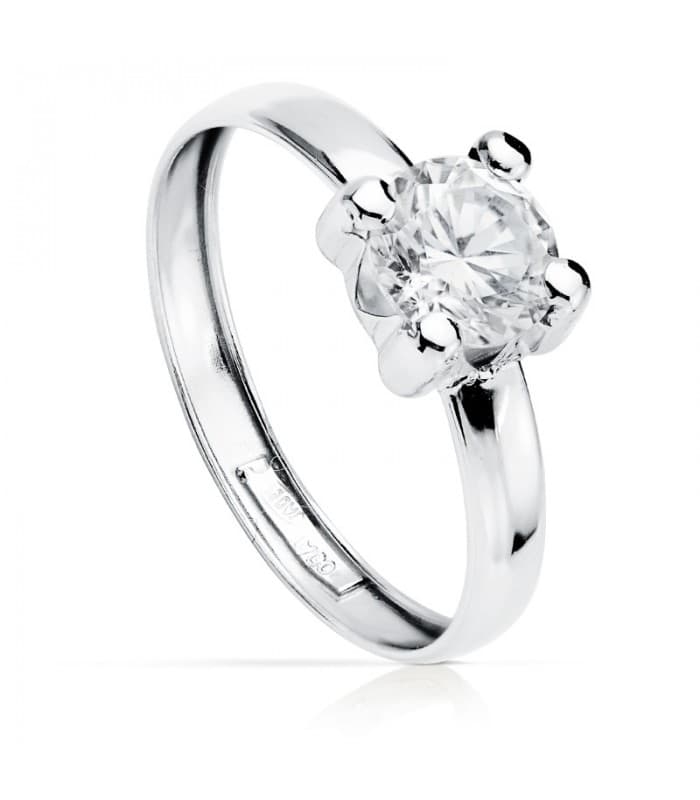 Solitario de Mujer Oro blanco Sintra 18K anillo de boda barato