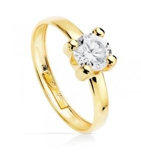 Solitario de Mujer Oro blanco Amarillo 18K Anillo de boda barato
