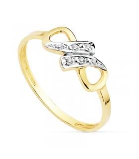 aca7e5be3499 Sortija de Mujer Oro bicolor 18K Fiona. 97.00 €. Anillo de mujer infinito  fabricado en oro bicolor de 18 kilates ...