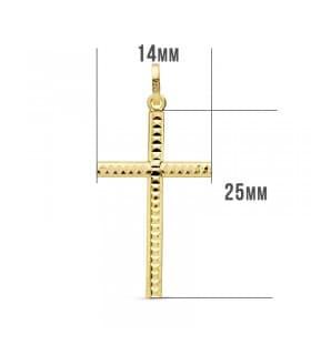 Cruz tallada de oro amarillo 18 ktes 25 mm