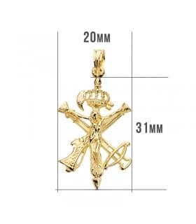 Cristo de la Legión Mediano Oro 18K 31 mm