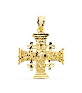 Cruz de Jerusalén Oro amarillo 18K 23mm