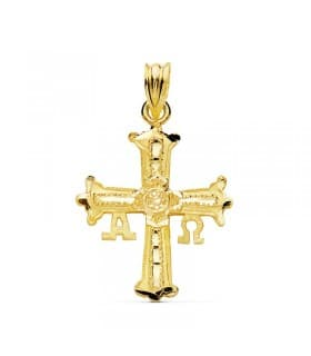 Cruz de Covadonga Oro amarillo 18K 27mm
