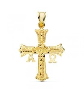 Cruz de Covadonga Grande Oro amarillo 18K 23mm