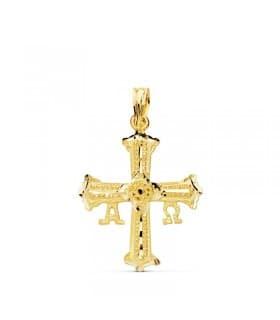 Cruz de Covadonga Pequeña Oro amarillo 18K 24mm