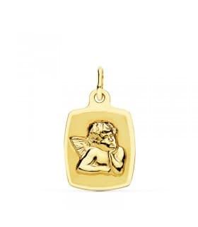Medalla Ángel Tonel Oro Amarillo 18 K 19 MM