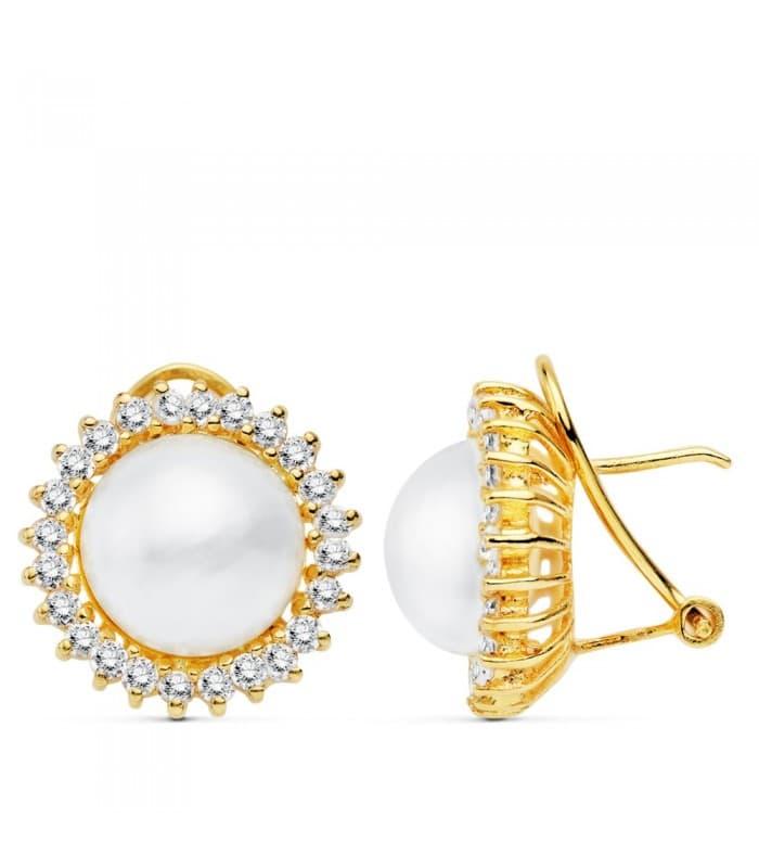 Pendientes Nozomi Perlas de Mabe Oro 18 K 12 MM