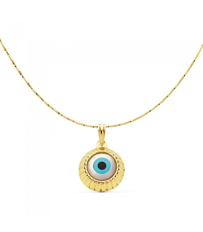 Gargantilla Ojo Turco Amulette Collection Oro Amarillo 18 K 15 MM
