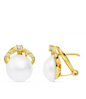 Pendientes Ima Perlas de Mabe Oro 18 K 10 MM