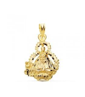 Medalla Virgen de la Cabeza Escudo Oro 18 K 22 MM