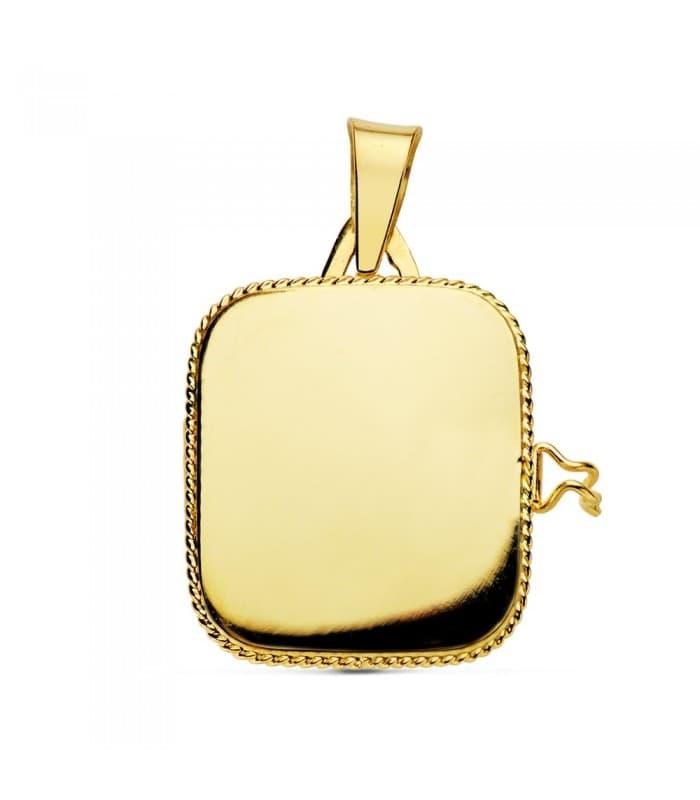 Portafotos Cuadrado Liso Oro 18 K 21 MM
