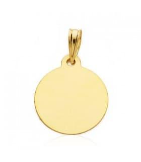 Medalla niño y reloj redonda oro 9ktes