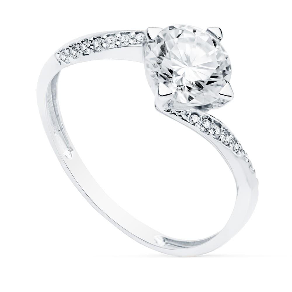 e3e6087cd210 Solitario Mujer Oro Blanco 18K Berna anillo de compromiso boda novia  alianza matrimonio piedra grande pedrusco
