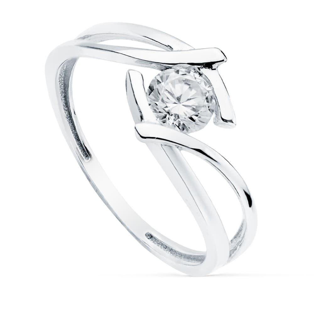 cb40cbcf694d Solitario Mujer Oro Blanco 18K Zurich anillo de compromiso boda novia  elegante ...