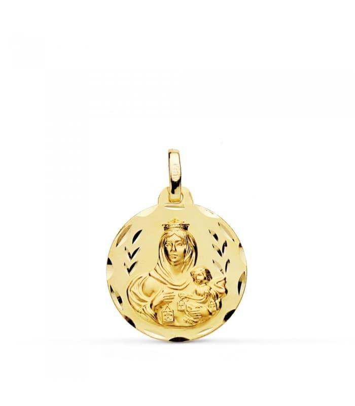 Medalla Virgen Carmen tallada 18mm