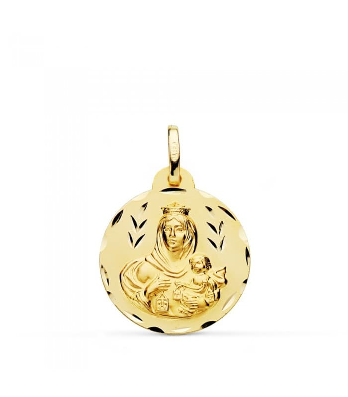 Medalla Virgen Carmen tallada 20mm
