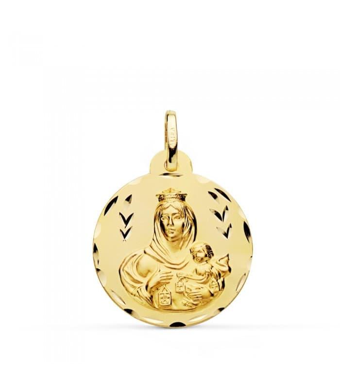 Medalla Virgen Carmen tallada 22mm
