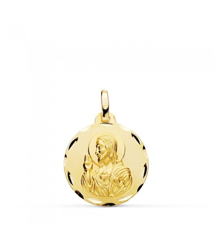 Corazón de Jesús tallado 18 mm comprar medallas personalizadas en joyerias