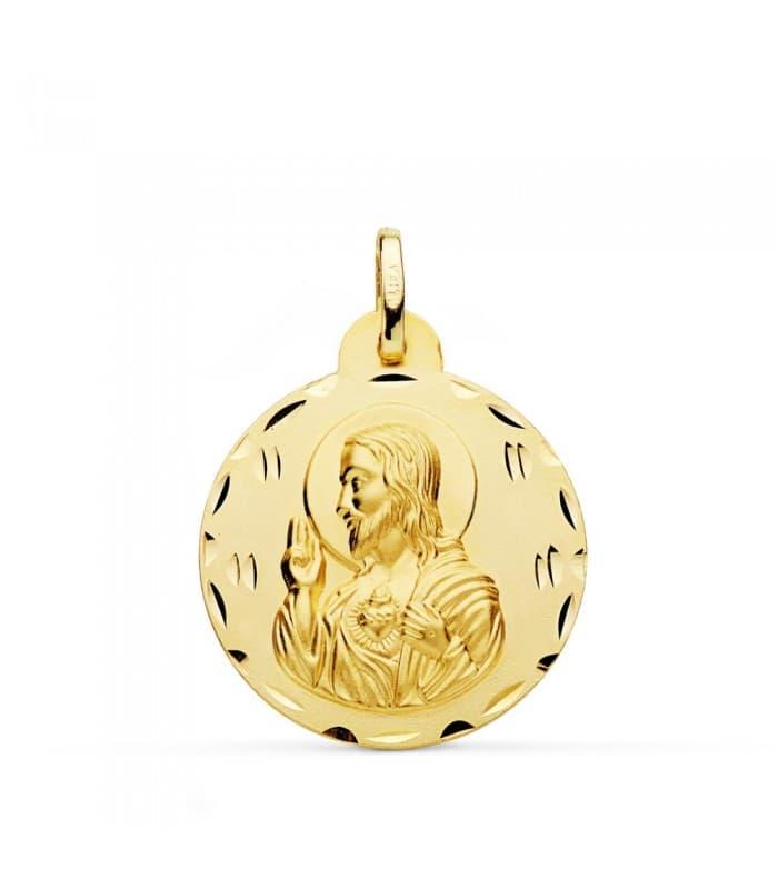 Corazón de Jesús tallado 24 mm
