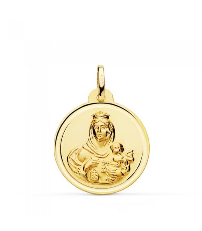 Medalla Virgen Carmen bisel 22mm