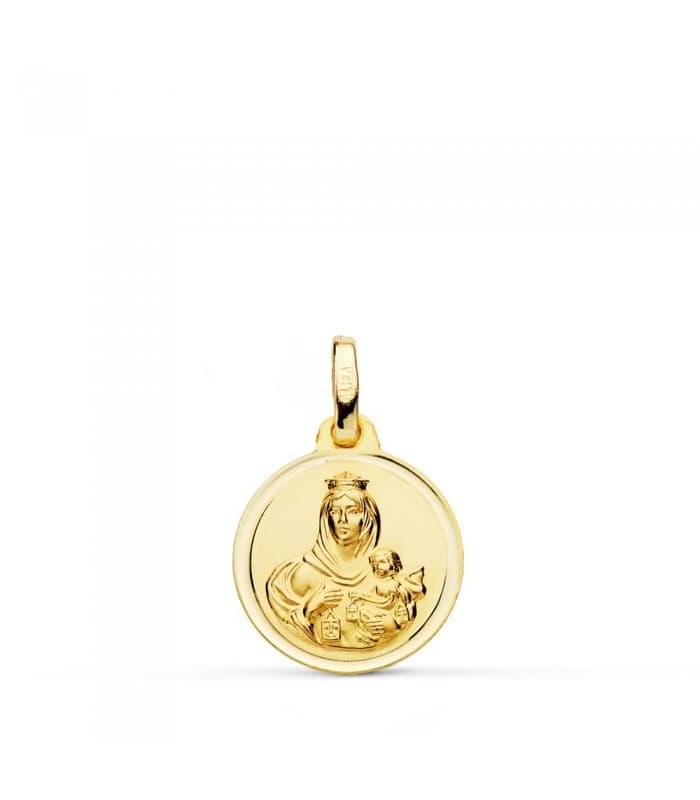 Medalla Virgen Carmen bisel 14mm