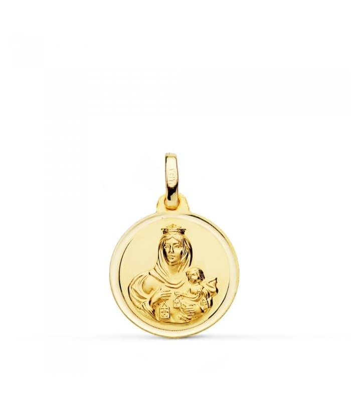 Medalla Virgen Carmen bisel 16mm