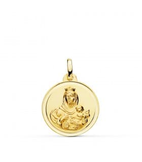Medalla Virgen Carmen bisel 18mm