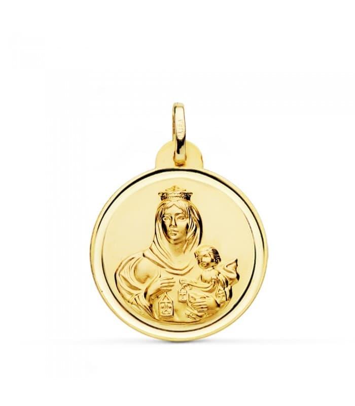 Medalla Virgen Carmen bisel 24mm
