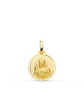 Medalla Corazón de Jesús bisel 14 mm