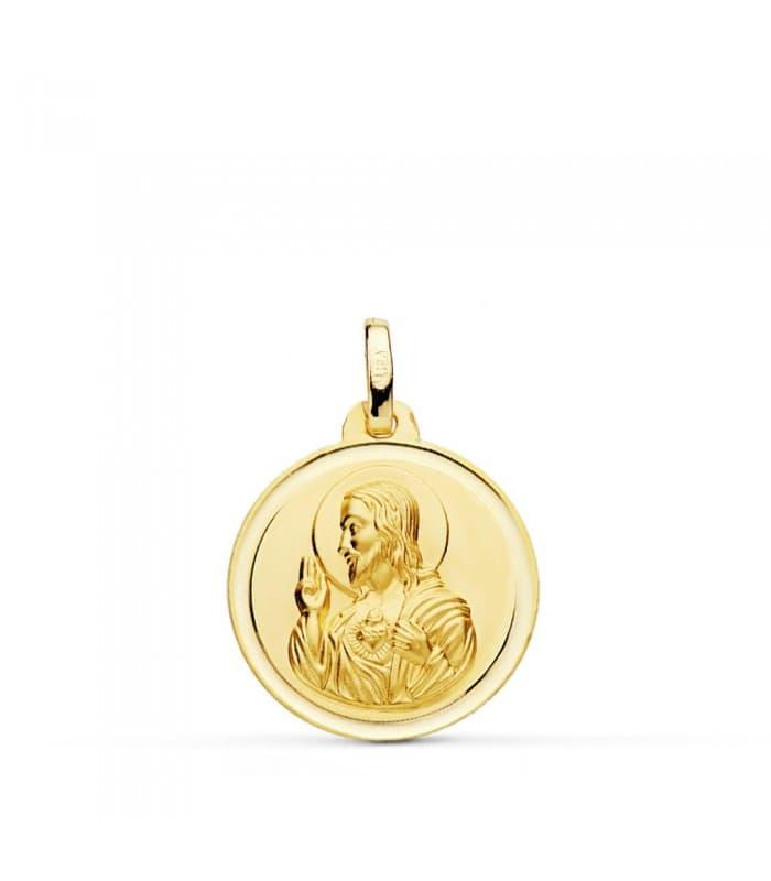 Medalla Corazón de Jesús bisel 18 mm