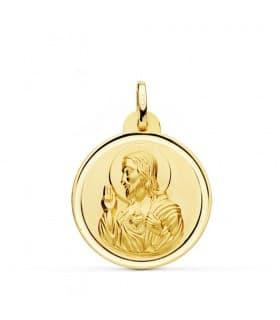 Medalla Corazón de Jesús bisel 24 mm