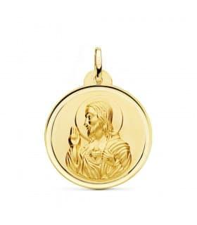 Medalla Corazón de Jesús bisel 26 mm