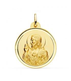 Medalla Corazón de Jesús bisel 28 mm