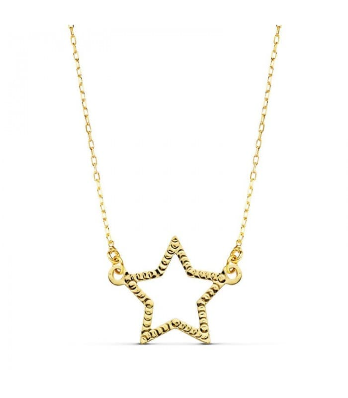 Collar mujer Little Star oro amarillo 18K 45 cm