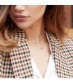 Collar Oro 18k Gargantilla Mujer Cadena forzada 45cm ajustable Colgante Estrella
