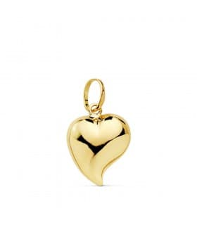 Colgante San Valentín romantico simbolo amor charm de mujer Corazón Oro Amarillo 18 kts 13 mm
