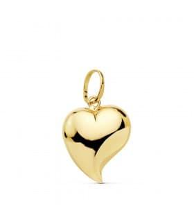 Colgante San Valentín romantico simbolo amor charm de mujer Corazón Oro Amarillo 18 kts 15mm
