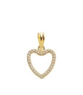 Colgante Corazón Slim Oro Amarillo 18k 13 mm