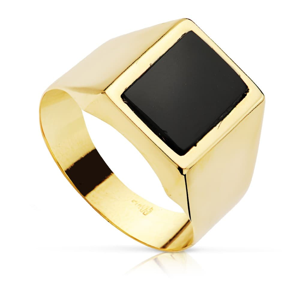 b19e678fc4a0 Anillo Sello Guido Oro Amarillo 18 Kilates Piedra Ónix Hombre o tendencia  Mujer ...