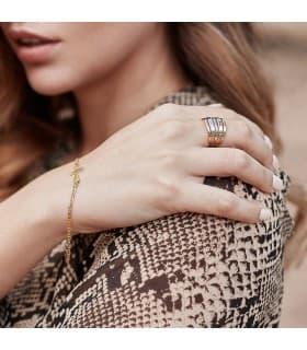 Pulsera de mujer oro amarillo símbolo cruz de la vida cadena cruz egipcia joyas de moda casual