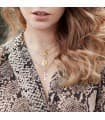 Cruz Calada sin Cristo Oro Amarillo 18 K 25 MM collar cruz moderna mujer tendencia casual