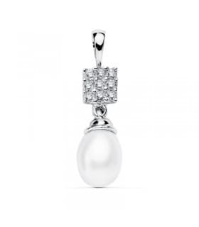 Colgante Bridal Bola Oro Blanco 18k 11mm