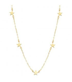 Collar mujer Little Star oro amarillo 18K 45 cm