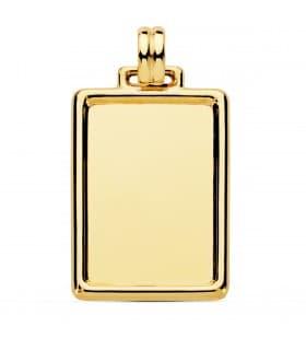 Chapa tallada placa oro 18 kilates colgante personalizado
